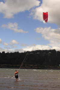 A kitesurfer - Hood River, OR ... June 29, 2007 ... Photo by Rob Page III