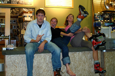 Killing time at REI - Portland, OR ... June 27, 2007 ... Photo by Joyce Page