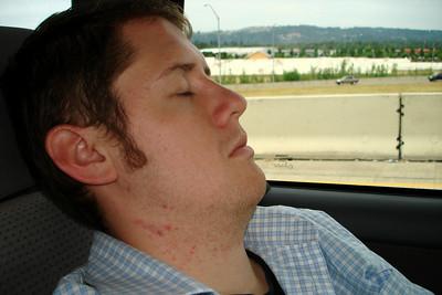 Stockpiling the sleep - Portland, OR ... June 27, 2007 ... Photo by Joyce Page