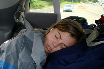 Nicole was energetic at the beginning of the trip - Portland, OR ... June 27, 2007 ... Photo by Joyce Page