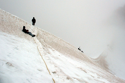 At the end of the Hogsback - Mt. Hood, OR ... June 28, 2007 ... Photo by Daryl Dombrowski