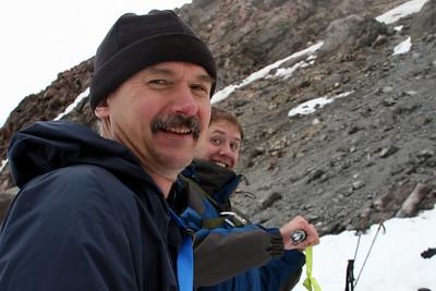 Daryl and John enjoying the hike - Mt. Hood, OR ... June 28, 2007 ... Photo by Nicole Page