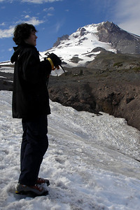 Nick and Mt. Hood - Mt. Hood, OR ... June 27, 2007 ... Photo by Rob Page III