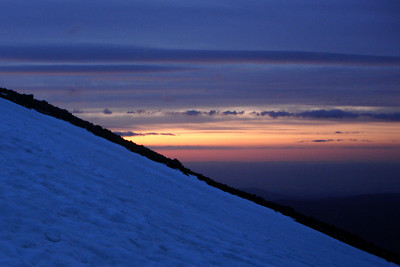 Sunrise from the mountain - Mt. Hood, OR ... June 28, 2007 ... Photo by Rob Page III