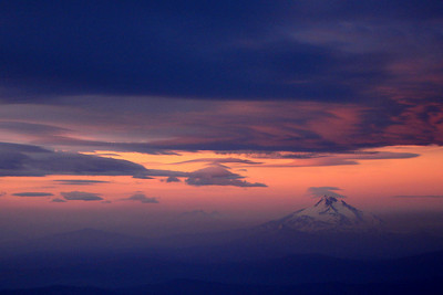 Sunrise over Mt. Jefferson - Mt. Hood, OR ... June 28, 2007 ... Photo by Rob Page III