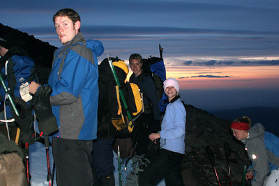 Taking a break - Mt. Hood, OR ... June 28, 2007 ... Photo by Rob Page Jr.