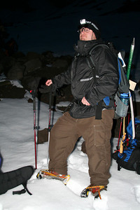 Jon is ready for the hike - Mt. Hood, OR ... June 28, 2007 ... Photo by Nicole Page