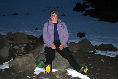 Heather taking a break - Mt. Hood, OR ... June 28, 2007 ... Photo by Rob Page Jr.