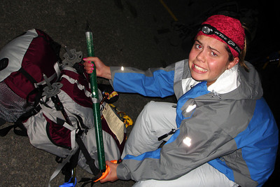 Nicole is a little worried about the climb - Mt. Hood, OR ... June 28, 2007 ... Photo by Rob Page III