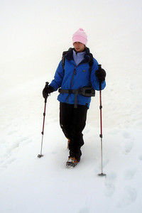 Emily descending Mt. Hood - Mt. Hood, OR ... June 28, 2007 ... Photo by Rob Page III
