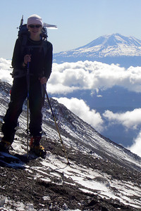 Emily and Mt. Adams - Mt. St. Helens, WA ... June 30, 2007 ... Photo by Rob Page III