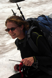 Emily's having fun!  - Mt. St. Helens, WA ... June 30, 2007 ... Photo by Rob Page III