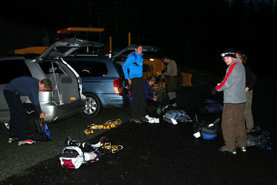Getting ready for the climb - Mt. St. Helens, WA ... June 29, 2007 ... Photo by Nicole Page