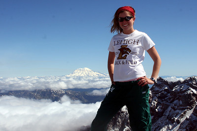 Nicole on top of Mt. St. Helens - Mt. St. Helens, WA ... June 30, 2007 ... Photo by Rob Page Jr.