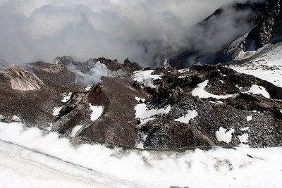 Looking down into the smoldering caldera - Mt. St. Helens, WA ... June 30, 2007 ... Photo by Rob Page Jr.