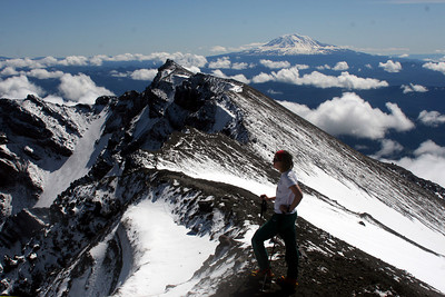 At the summit of Mt. St. Helens - Mt. St. Helens, WA ... June 30, 2007 ... Photo by Rob Page Jr.