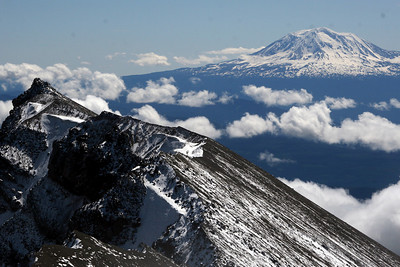 Mt. Adams off in the distance - Mt. St. Helens, WA ... June 30, 2007 ... Photo by Rob Page Jr.