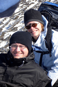 Jen and Jon at the summit - Mt. St. Helens, WA ... June 30, 2007 ... Photo by Rob Page III
