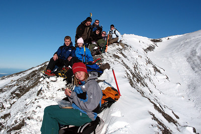 The group at the summit - Mt St. Helens, WA ... June 30, 2007 ... Photo by Daryl Dombrowski