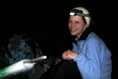 Emily taking a break - Mt. St. Helens, WA ... June 30, 2007 ... Photo by Nicole Page