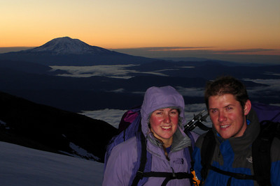 Heather and John with Mt. Adams in the background - Mt. St. Helens, WA ... June 30, 2007 ... Photo by Rob Page III