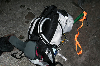 Nicole's bag - Mt. St. Helens, WA ... June 30, 2007 ... Photo by Nicole Page