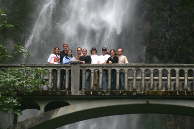 The group - Multnomah Falls, OR ... June 29, 2007 ... Photo by Rob Page Jr.