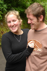 Heather and John having fun - Multnomah Falls, OR ... June 29, 2007 ... Photo by Rob Page III