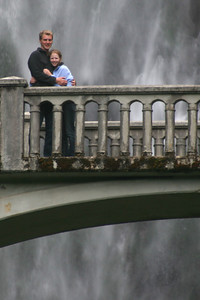 Rob and Emily on the bridge - Multnomah Falls, OR ... June 29, 2007 ... Photo by Rob Page Jr.