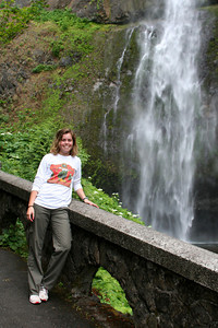 Nicole at the falls - Multnomah Falls, OR ... June 29, 2007
