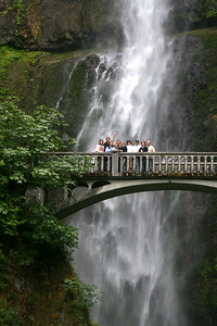 Dwarfed by the waterfall - Multnomah Falls, OR ... June 29, 2007 ... Photo by Rob Page Jr.