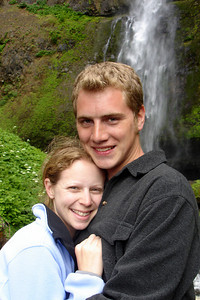 Rob and Emily - Multnomah Falls, OR ... June 29, 2007 ... Photo by Unknown
