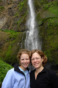 Emily and Jen enjoying the falls - Multnomah Falls, OR ... June 29, 2007 ... Photo by Rob Page III