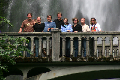The group - Multnomah Falls, OR ... June 29, 2007 ... Photo by Bob Frye