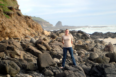 Playing on the coast - Oregon ... July 2, 2007 ... Photo by Rob Page Jr.