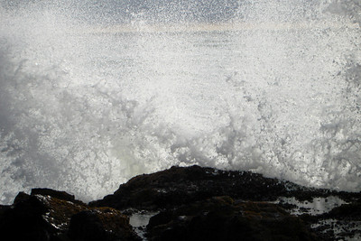 A wave explodes along the coast - Oregon ... July 2, 2007 ... Photo by Rob Page Jr.
