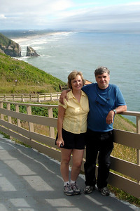 Mom and Dad enjoying the coast - Oregon ... July 2, 2007 ... Photo by Heather Page