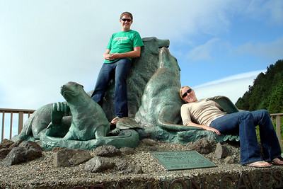 Heather and John lounging with the Sea Lions - Oregon ... July 2, 2007 ... Photo by Rob Page Jr.
