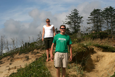 Heather and John hiking - Oregon ... July 2, 2007 ... Photo by Rob Page Jr.