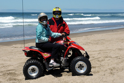Mom and Dad enjoying the dune buggying - Oregon ... July 2, 2007 ... Photo by Heather Page