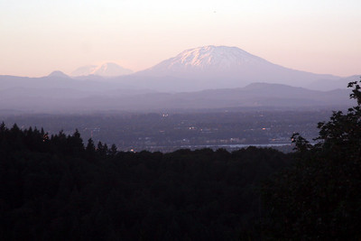 Mt. St. Helens rises above the city - Portland, OR ... July 3, 2007 ... Photo by Rob Page Jr.