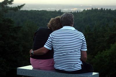 Bob and Joyce enjoying the sunset - Portland, OR ... July 3, 2007 ... Photo by Heather Page