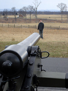 Dermot managed to make it onto the firing range - Gettysburg, PA ... January 21, 2006 ... Photo by Rob Page III