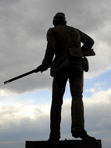 A Civil War statue - Gettysburg, PA ... January 21, 2006 ... Photo by Rob Page III