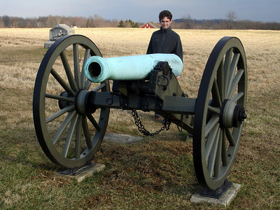 Dermot and his cannon - Gettysburg, PA ... January 21, 2006 ... Photo by Rob Page III