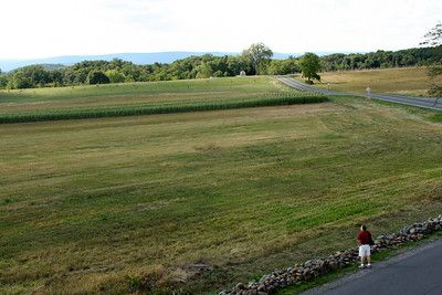 My father looking out across Oak Hill where the battles of the first day took place - Gettysburg, PA ... August 18, 2008 ... Photo by Rob Page III