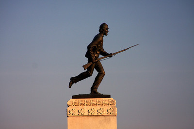The top of the Minnesota Memorial - Gettysburg, PA ... August 16, 2008 ... Photo by Rob Page Jr.