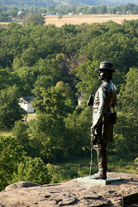Brig Gen Warren surveys the battlefield - Gettysburg, PA ... August 16, 2008 ... Photo by Rob Page III
