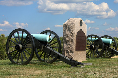 Cannons at the top of Barlow Knoll - Gettysburg, PA ... August 18, 2008 ... Photo by Rob Page III