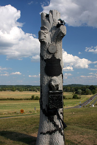 A memorial next to Oak Hill - Gettysburg, PA ... August 16, 2008 ... Photo by Rob Page Jr.